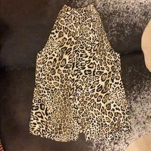 Cheetah choker top